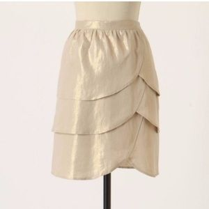 Anthropology Edme & Esyllte Gilded Lily Skirt Sz 0